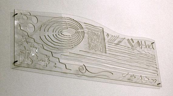 Normographe du signe, plexiglas découpé, 2009