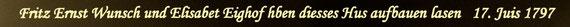 Inschrift über dem Delentor meines Elternhauses