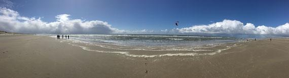 Bitte per Klick vergrößern......Panorama des Strandes.