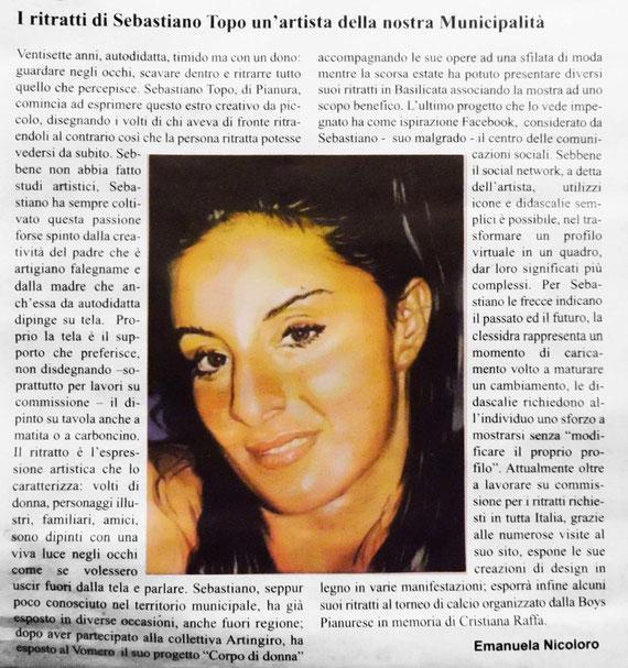 """Articolo tratto da """"L'informazione di Soccavo Pianura"""" Mensile d'informazione sulla IX Municipalita - Napoli"""