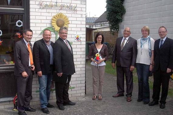v.l. Armin Kreider, Peter Hartmann, Günter Retzlik, Ute Gröger, Kurt-Wilhelm Nau, Petra Braun, Matthias Weidenhagen.