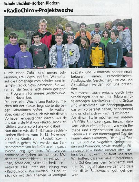 Simmental-Zeitung vom 5. November 2009