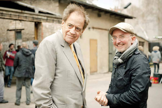 Die beiden Filmproduzenten Arthur Cohn (l.) und Christoph Hahnheiser.