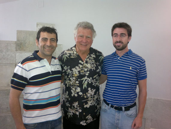 Los Drs. Prieto y Gamero con el Dr. Tom Pitts