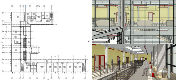 визуализация BIM бим модели бизнес центра