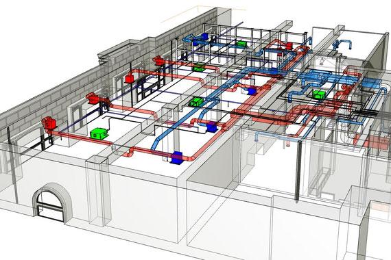 BIM модель инженерных сетей