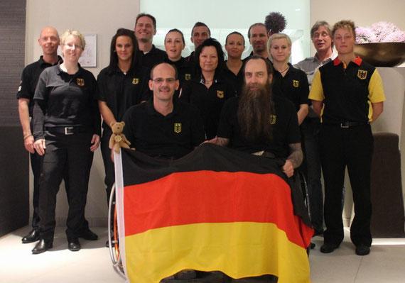 Die deutsche Nationalmannschaft bei der EM 2012 in Luxemburg.