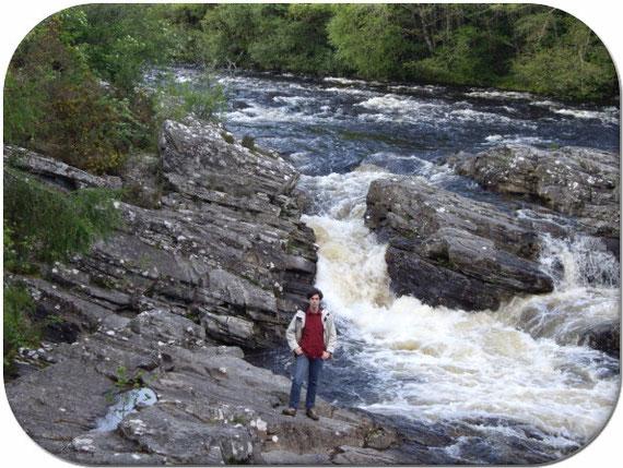 Moi au pied du pont d'Invermoriston