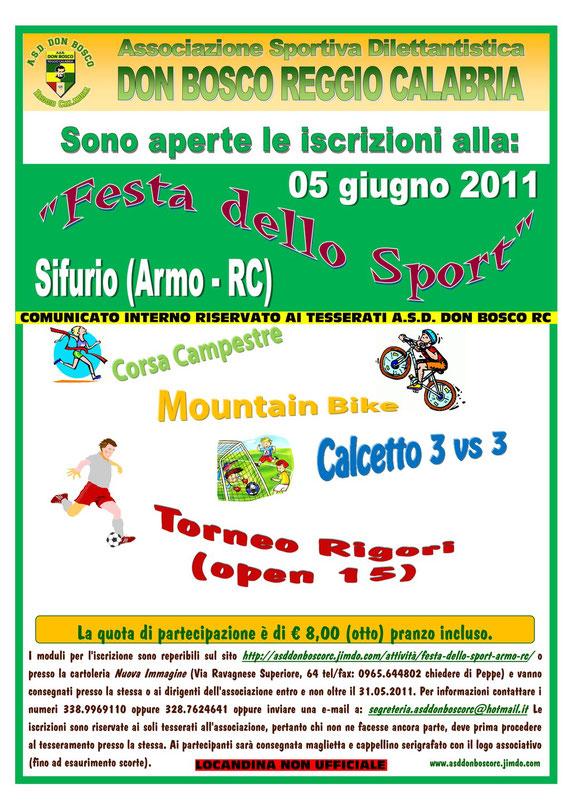 Iscrizioni Festa dello Sport. Clicca sull'immagine per ingrandire