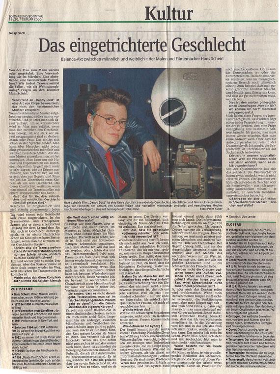 """""""Sächsische Zeitung"""" 19./20. Februar 2000"""
