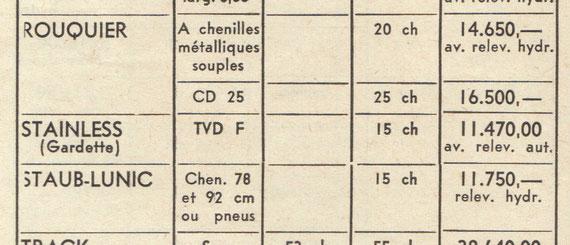 Septembre 1960 tracteur chenilles diesel