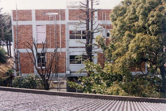 屋根の上から見た八幡図書館