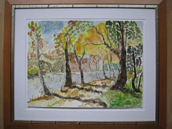 Waldweg im Herbst - Reproduktion nach D.Schlager