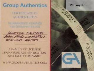 ABBA - Anni-Frid + Agnetha Autogramm auf Foto mit Zertifikat