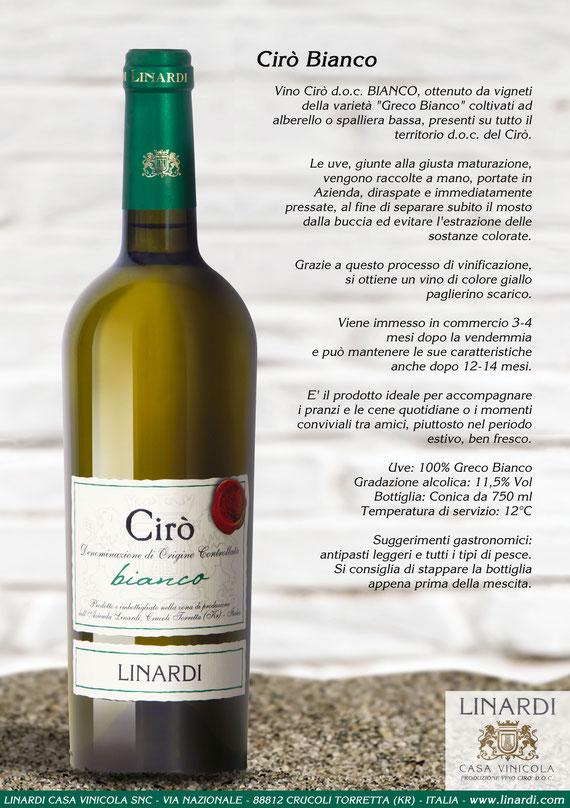 Scheda Cirò Bianco Linardi Wines