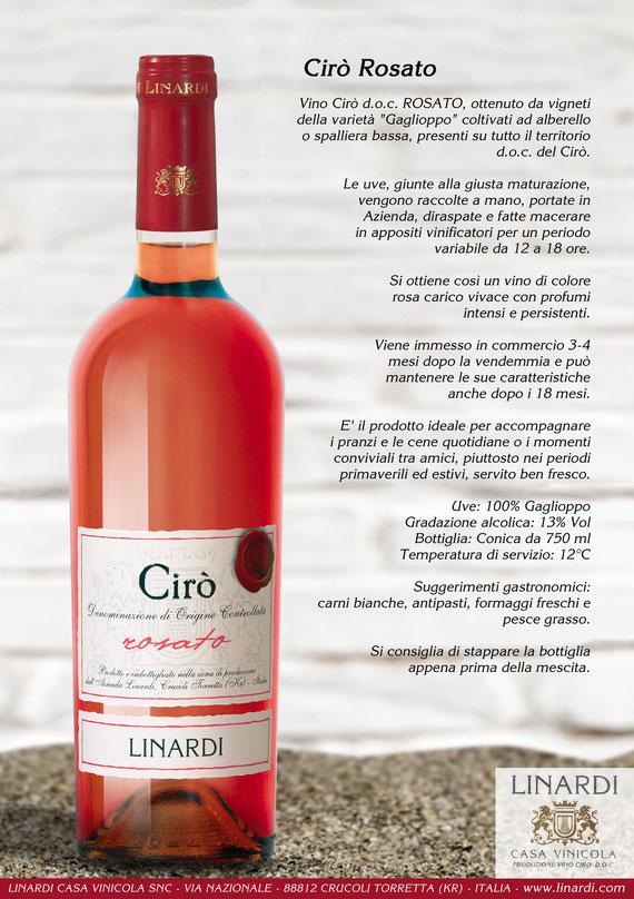Scheda Cirò Rosato Linardi Wines