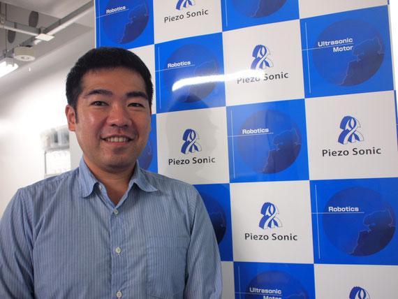 株式会社 Piezo Sonic(ピエゾ ソニック)代表取締役 多田興平さん。