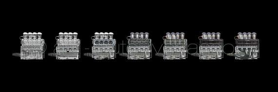 Ford Cosworth DFV - Étapes 100x20cm