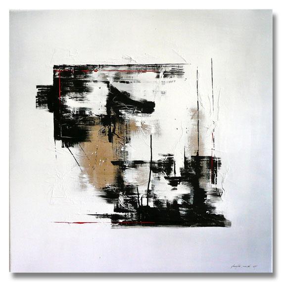 """""""Collage"""" - Mischtechnik auf Leinwand - 80x80"""