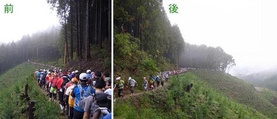 山へ入る行列〜2,158名