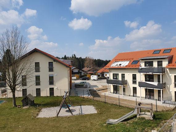 Ausblick vom Balkon der ambulanten Wohngemeinschaft in Richtung Osten