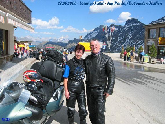 Auf der Reise nach Lourdes 27.5.2005 wir hatten nur schönes Wetter!