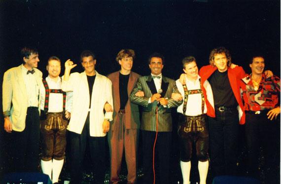 """Peter Reicher (3.von rechts)- mit Brunner&Brunner und sehr bekannten Künstlern auf der Bühne! 07.12.1992 Peter Reicher -  mit seinem """"Steiermark Duo"""" schon damals sehr erfolgreich unterwegs! 1985-1996"""