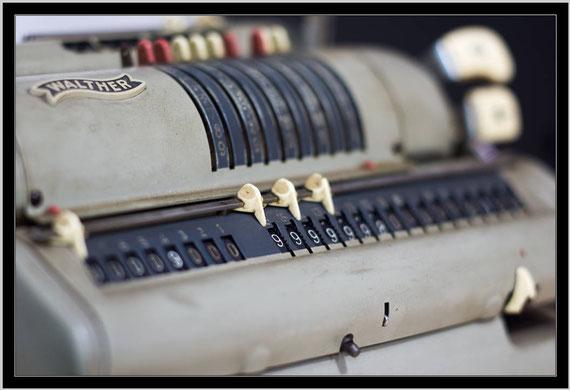 Rechenmaschine aus der ehemaligen Mühle. Foto D.Topp