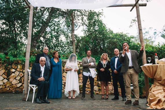 תחילת טקס החתונה - החופה בגן אירועים עין חמד