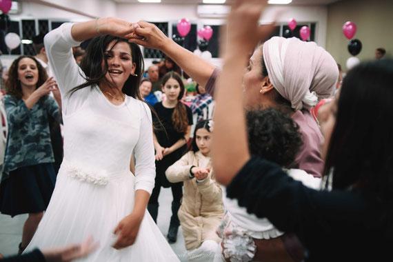 הריקודים היו בשיא | צילום אירוע בת מצווה בצפריה