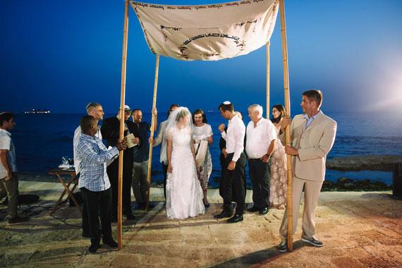 החופה על שפת הים - צילמנו חתונה בקיסריה