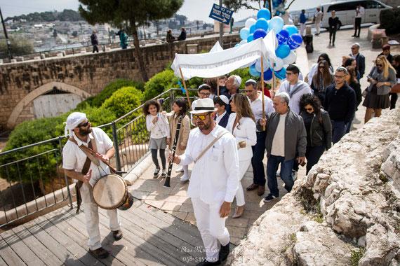 תהלוכה מוזיקאלית בכותל