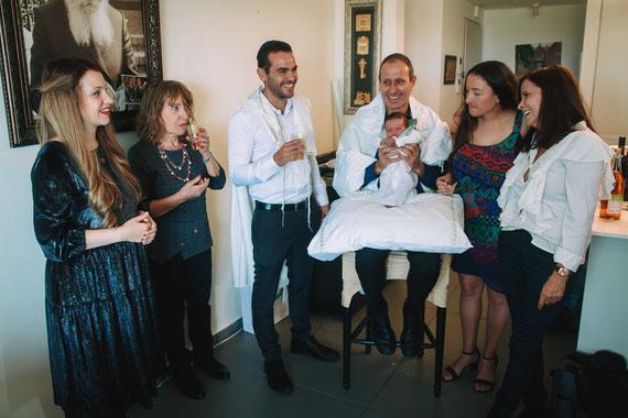 לאחר הטקס | ברית מילה בתוך בית בתל אביב
