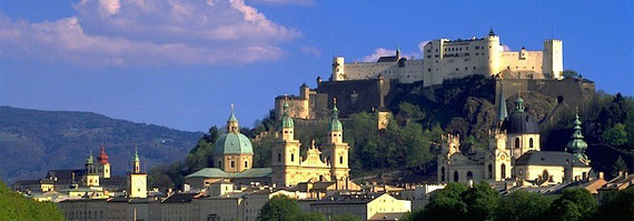 Stadt Salzburg mit Festung