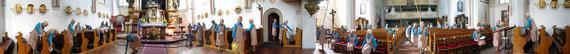 360 * Panorama / Mesnerin in der Pfarrkirche St. Laurenz