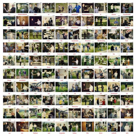 """100 Polaroids ......  Symposion """"Sagen - Mythen - Archetypen"""", Juli 2000"""