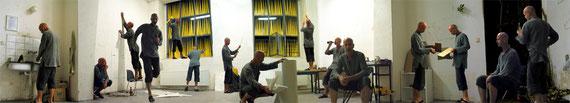 """""""Atelier bei Nacht"""" aus der Serie """"digital clones"""" Egon Schiele Centrum, Cesky Krumlov, 2003"""