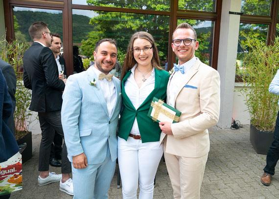 Freie Traurednerin Stella bei einer Freien Trauung im Moods, Heidelberg. Foto: (c) Wedding by Gerald.