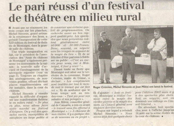 Festival de théâtre 2011