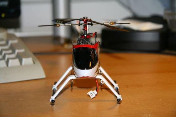Walkera 4#3 probeweise mit TREX250er Landegestell