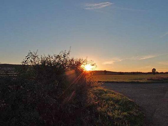 Sonnenuntergang bei Melchingen auf der Schwäbischen Alb