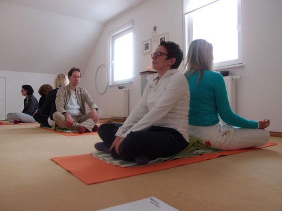 Seminar Sonnenstunden für die Seele, Meditation in der Gruppe