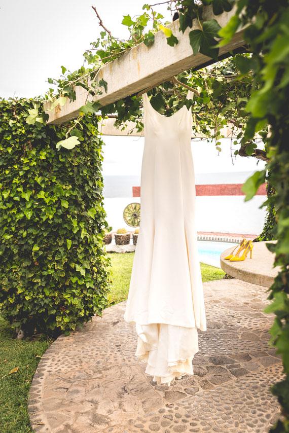Vestido de novia. Boda en Tenerife