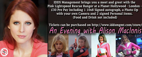 3/14/16 - London, U.K - Pink Lightspeed Ranger Meet and Greet with Alison MacInnis.