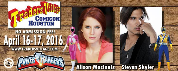 4/16-4/17/16 - Houston, TX. - Traders Village Comicon  with Alison MacInnis, Steven Skyler.