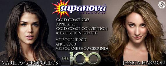 4/21-4/30/17 - Gold Coast & Melbourne, Australia - Supanova - With Marie Avgeropolous & Jessica Harmon.