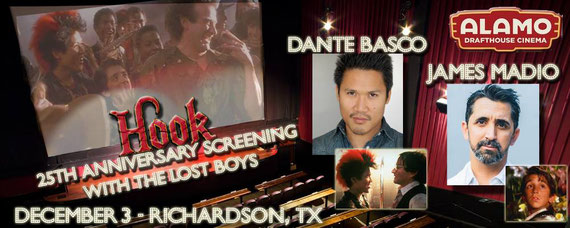 12/3/16 - Richardson, TX. - Hook 25th Anniversary Tour with Dante Basco, James Madio.