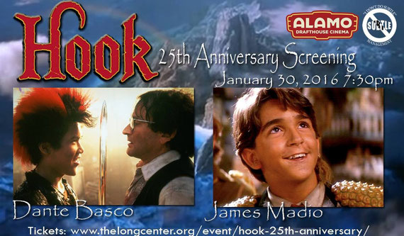 "1/30/16 - Austin, TX. - The ""Hook"" 25th Anniversary Quote-Along Screening with Dante Basco and James Madio."