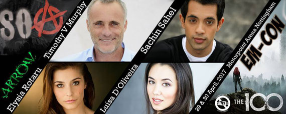 4/29-4/30/17 - Nottingham, England - EM-CON - With Sachin Sahel, Elysia Rotaru, Luisa De'Oliveira. Tim Murphy had to cancel for filming.