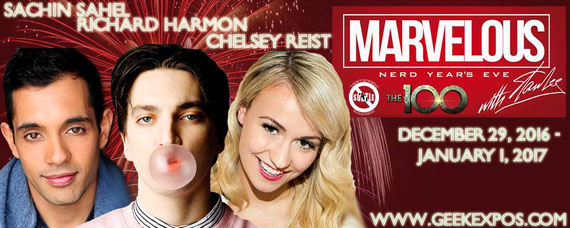 12/29-1/1/17 - Dallas, TX. - Marvelous Nerd Year's Eve with Sachin Sahel, Richard Harmon, Chelsey Reist, Alison MacInnis.